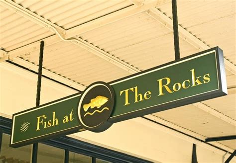 Subscribe To Flyaway Cafe By Email by Fish At The Rocks Restaurant Sign System Danthonia