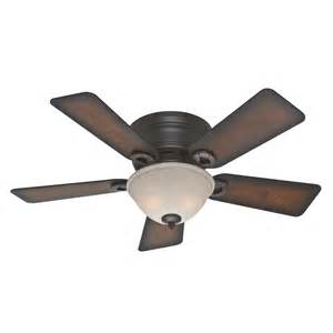 Flush Mount Ceiling Fan Shop Conroy 42 In Onyx Bengal Bronze Flush Mount