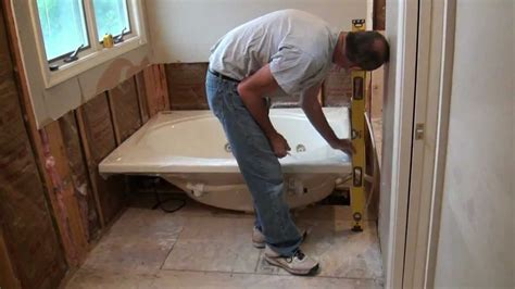 how to fit a bathtub in a small bathroom installing a whirlpool jet tub part 1 youtube