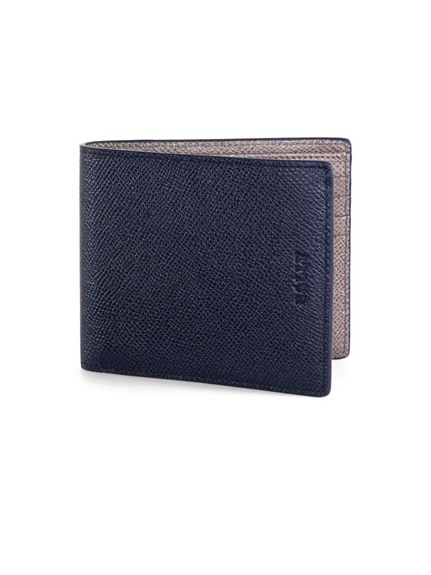 Bally Wallet bally calf leather wallet in blue for lyst