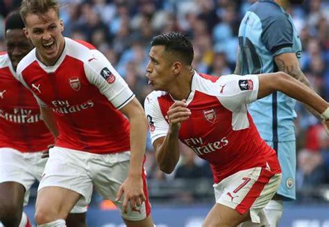 Alexis Sanchez Vs Man City | arsenal 2 1 manchester city match report 23 04 2017 fa