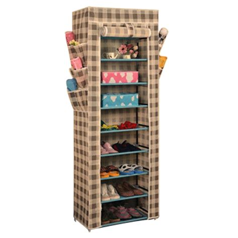 fabric shoe storage 10tier canvas fabric shoe rack shoes organiser storage