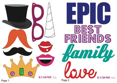 printable photo booth props words quirky photo booth printable be a fun mum