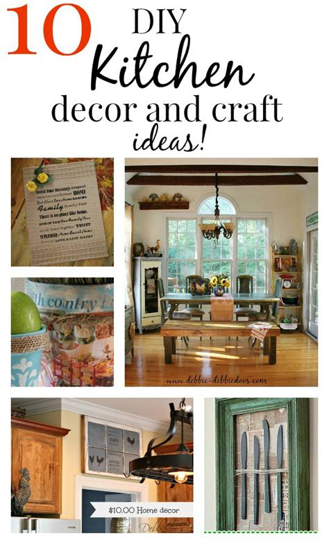 kitchen craft ideas 10 easy diy kitchen craft decor ideas debbiedoos