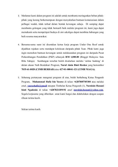 surat memohon sumbangan daripada pkp