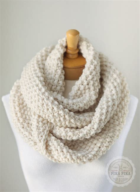 knitting pattern for infinity scarf knit infinity scarf chunky knitted infinity by