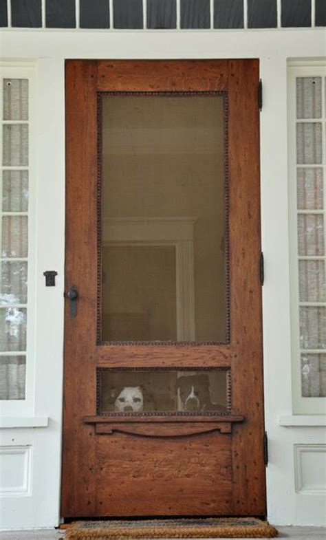 24 Wood Screen Door by 20 Beautifully Classic Farmhouse Stained Wood Doors
