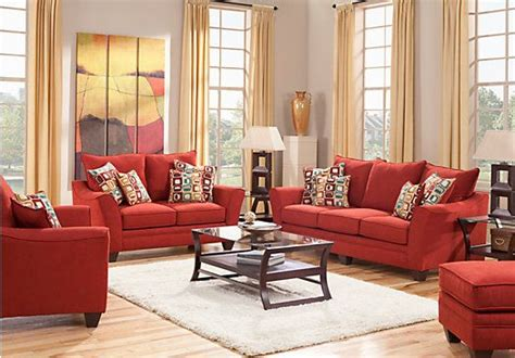 rooms to go living room set shop for a santa monica red 7 pc living room at rooms to