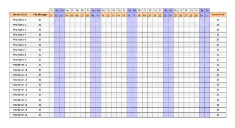 Kostenlose Vorlage Dienstplan Kostenlose Excel Urlaubsplaner Vorlagen 2017 Office Lernen