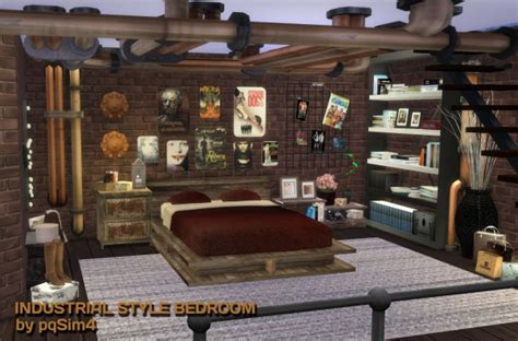 industrial style bedroom furniture pqsims4 industrial style bedroom sims 4 downloads