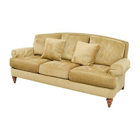 90 ethan allen ethan allen hyde gold three cushion