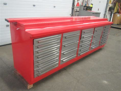 lista bench lista style 30 drawer bench heavy duty cabinet with stainless steel drawers mint condition