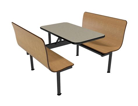 bench tables 42 quot contour wall unit with vinyl edge table restaurant