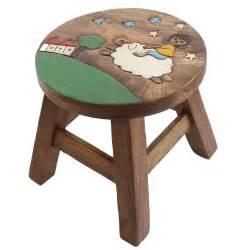 osaka wooden stool chair mango wood timber designer