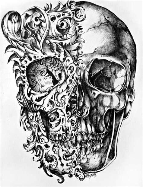 badass tattoos drawings badass looking skull so sick just maybe a