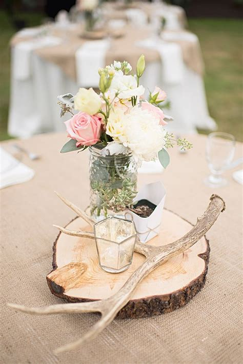 fall wedding table decor with alter and flowers