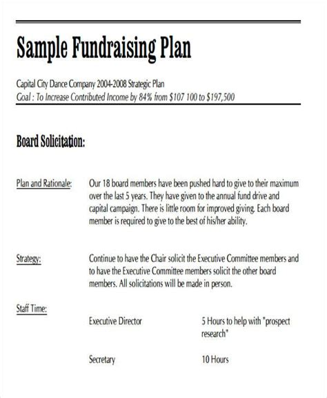 19 Event Plan Templates In Pdf Free Premium Templates Fundraising Plan Template