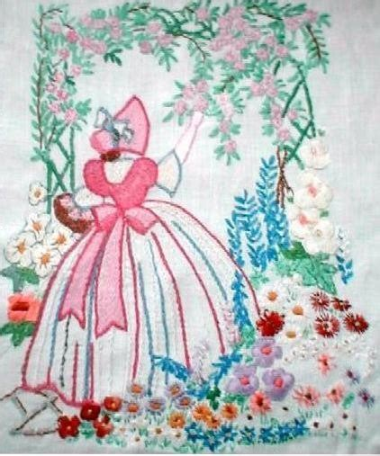 embroidery design ladies items similar to crinoline lady arbor embroidery transfer
