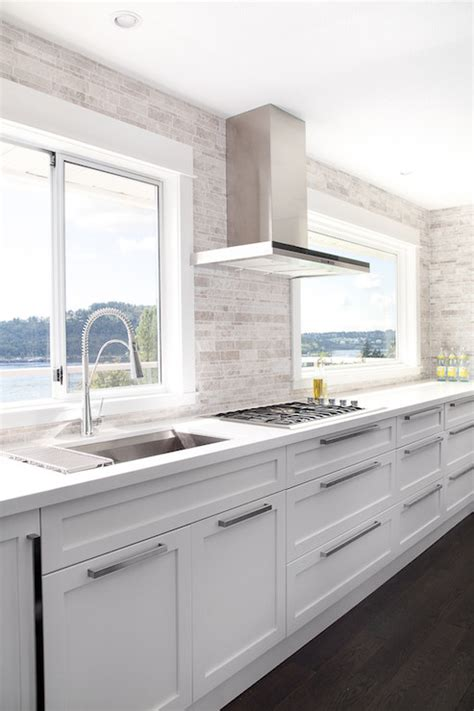 contemporary white kitchen no upper cabinets contemporary kitchen moeski design