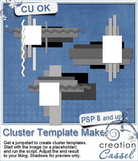 cluster template maker psp script cluster template maker