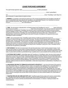 Lease Purchase Agreement Template doc 728982 lease purchase agreement template the