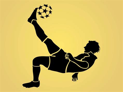 soccer play football player vector graphics freevector