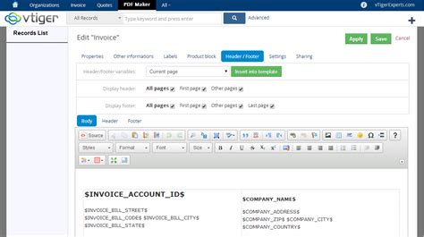 invoice layout vtigercrm download vtiger invoice template pdf rabitah net