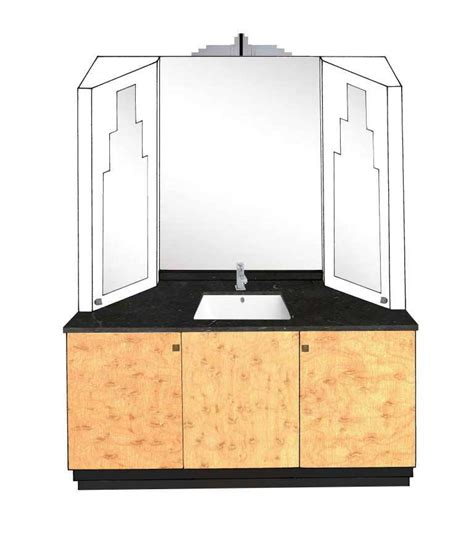 Deco Bathroom Vanity Unit by New Deco Skyscraper Style 3 Door Bathroom Vanity Unit