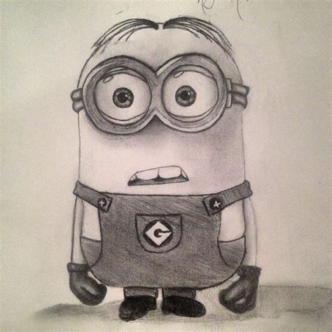 doodle draw minion late minion drawing so my