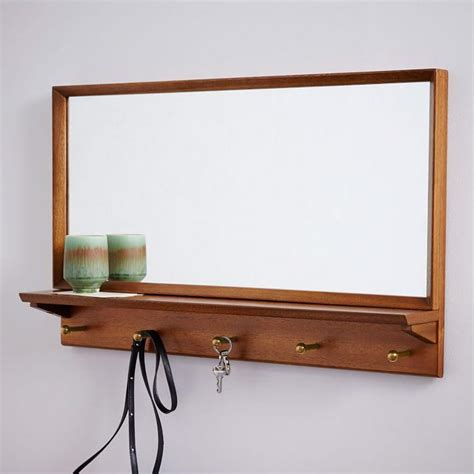 entryway mirror horizontal black brown entryway mirror and hooks