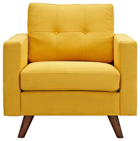 yellow armchair papaya yellow uma armchair dark walnut wood color