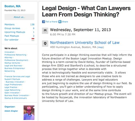 design thinking boston boston legal design meetup open law lab