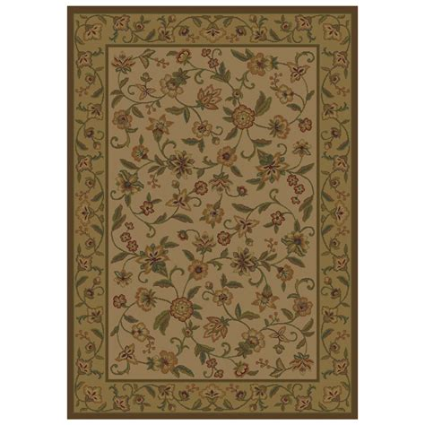Shaw Area Rug Shop Shaw Living Alice Rectangular Cream Floral Area Rug
