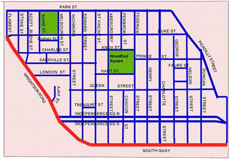 map of port of spain streets downtown port of spainstreet map