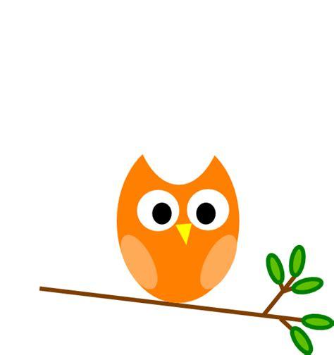 clipart owl orange owl clip at clker vector clip