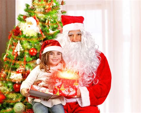 christmas party opening for children stock image image of closeup grandfather 35984189