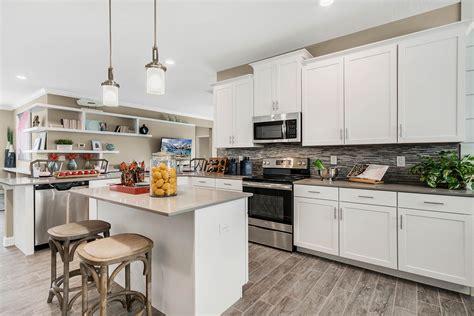 lennar homes white cabinets open shelving  sleek