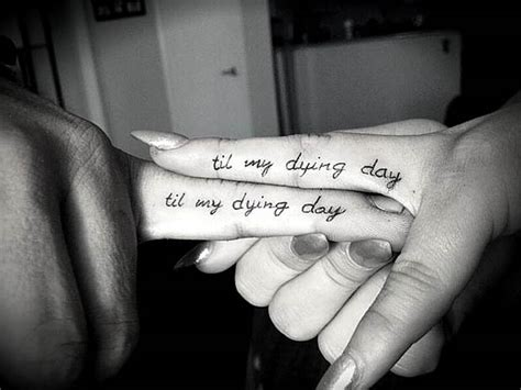ring finger tattoo quotes 61 cute couple tattoos that will warm your heart page 5