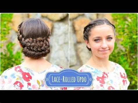 cute hairstyles in youtube lace rolled updo cute hairstyles youtube