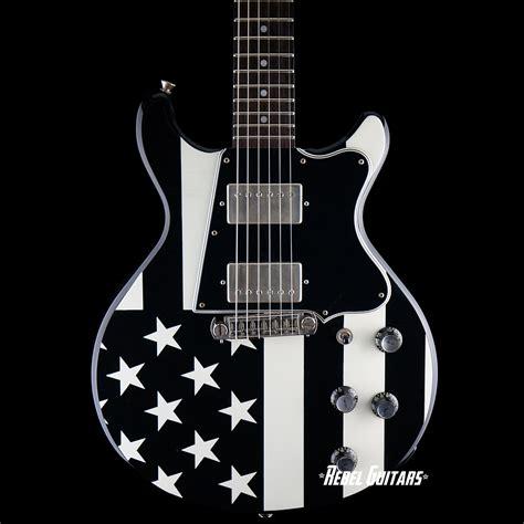 rock n roll relics rebel guitars preowned rock n roll relics thunders black flag rebel