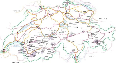 printable european road map driving to the swiss alps