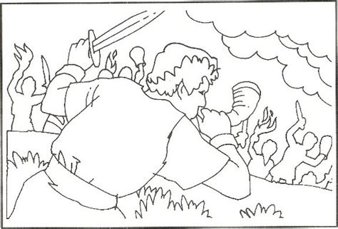 coloring page for gideon coloring sheet of gideon gideon gideon coloring pages
