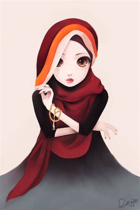 anime muslim girl wallpaper hijab cartoon with quotes quotesgram