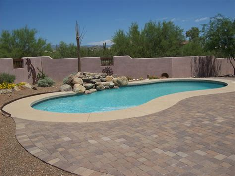 pool paver ideas paver and concrete around pool arizona pool decking