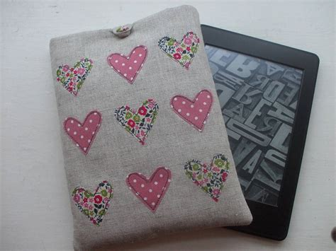 Handmade Kindle Covers - handmade cover for kindle by caroline watts embroidery