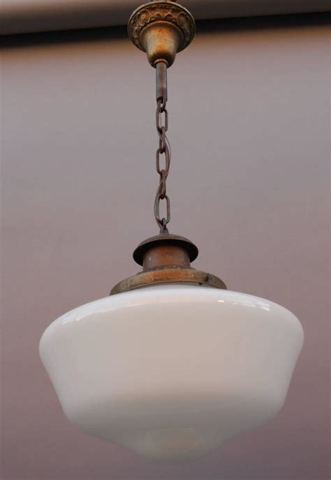 Period Pendant Lighting 1930s School House Pendant Light With Original Period Fitter At 1stdibs