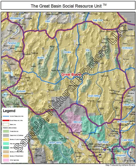 great basin usa map great basin map social resource units of the western usa