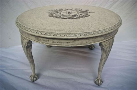 shabby chic round coffee table no 02 touch the wood