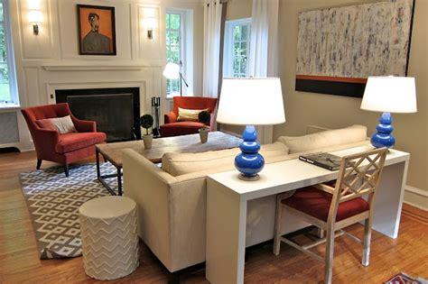 desk behind sofa design bookcases behind a sofa home design elements