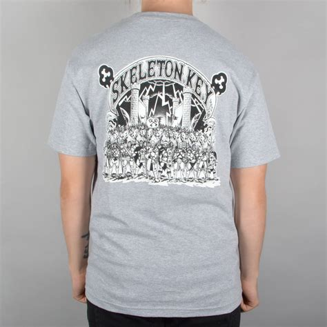 T Shirt Skeleton Key 6snx skeleton key mfg sk army skate t shirt grey skate clothing from skate store uk